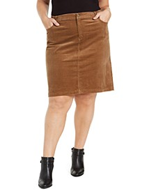 Plus Size Corduroy Skirt, Created for Macy's