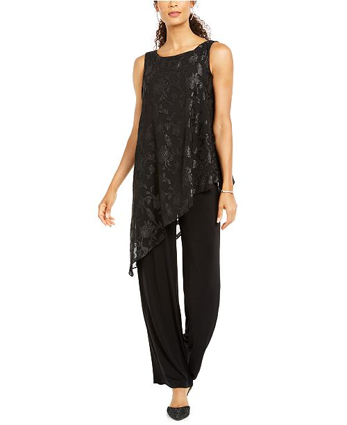 Connected Asymmetrical-Overlay Jumpsuit