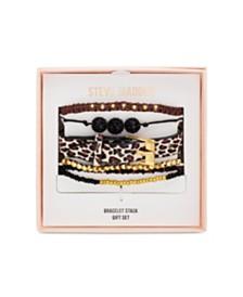Steve Madden Leopard Print Bracelet Stack Gift Set