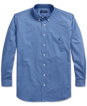 Polo Ralph Lauren Men's Big & Tall Natural Stretch Poplin Sport Shirt