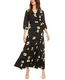 Ruffle Wrap Maxi Dress, Created for Macy's