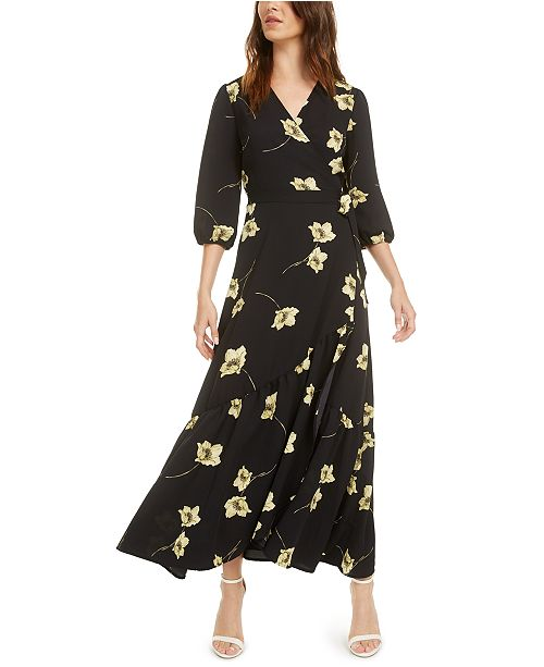 Ruffle Wrap Maxi Dress, Created for Macy\'s