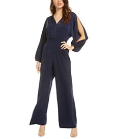 Bar III Smocked-Waist Jumpsuit, Created for Macy's