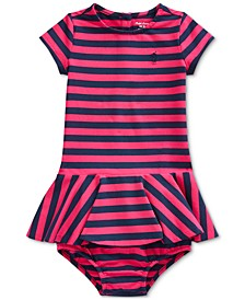 Baby Girls Stretch Stripe Dress