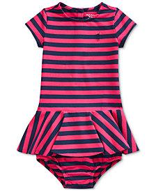 Polo Ralph Lauren Baby Girls Stretch Stripe Dress