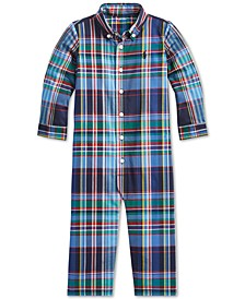 Baby Boys Stretch Plaid Coverall