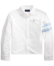 Polo Ralph Lauren Big Girls Classic Oxford Crop Shirt