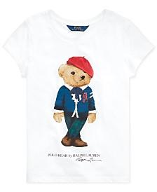 Polo Ralph Lauren Big Girls Jersey Cotton Bear T-Shirt