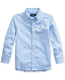 Toddler Girls Pinpoint Oxford Shirt