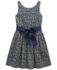 Toddler Girls Cotton Poplin Dress