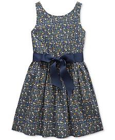 Polo Ralph Lauren Toddler Girls Cotton Poplin Dress