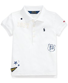 Polo Ralph Lauren Little Girls Stretch Mesh Novelty Polo Shirt