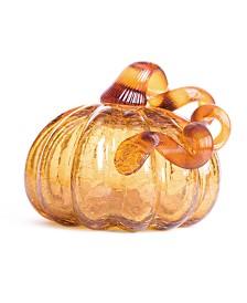 Glitzhome Crackle Glass Pumpkin