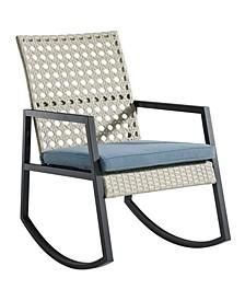 Modern Patio Rattan Rocking Chair