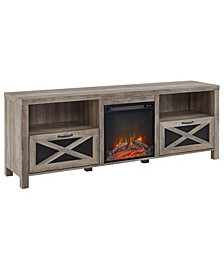 Rustic Farmhouse Fireplace TV Stand