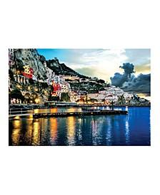 "Collection - Amalfi at Night Canvas Art, 54"" x 36"""