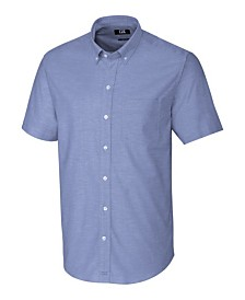 Cutter and Buck Men's Big and Tall Short Sleeves Stretch Oxford Shirt