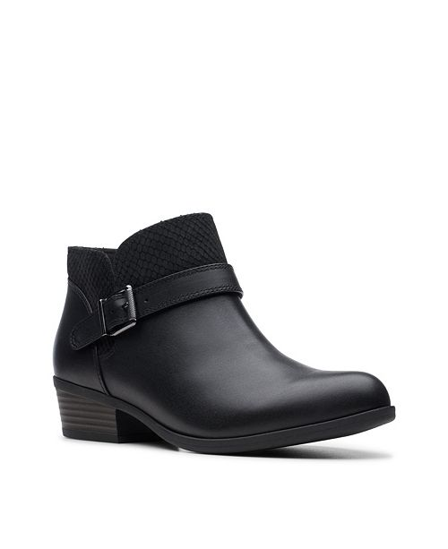 Clarks Collection Women's Addiy Sharilyn Ankle Leather Booties