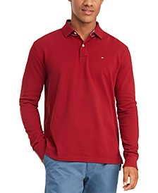 Men's Kent Long Sleeve Polo Shirt, Created for Macy's