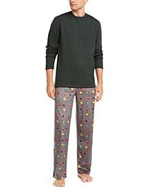 Men's Printed Pajama Set, Created for Macy's