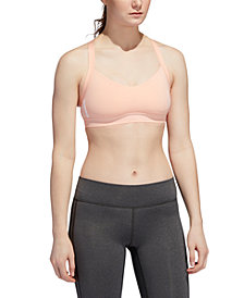 adidas Women's All Me 3-Stripe Light-Support Sports Bra