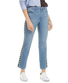 Side-Stripe Slim-Fit Jeans