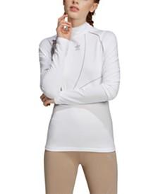 adidas Originals Mock-Neck Long-Sleeve Shirt