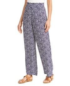 JM Collection Crepon Wide-Leg Pants, Created for Macy's