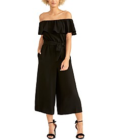 RACHEL Rachel Roy Daya Ruffled Off-The-Shoulder Jumpsuit