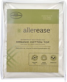AllerEase Organic Cotton Top Cover Waterproof Mattress Pads