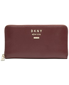 DKNY Whitney Leather Zip Around Wallet, Created for Macy's