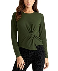 Val Knot-Front Blouse
