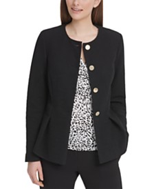 DKNY Four-Button Peplum Jacket
