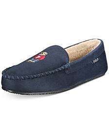 Men's Polo Bear Faux-Suede Slippers