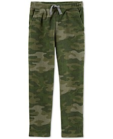 Little & Big Boys Camo Fleece Jogger Pants