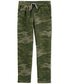 Carter's Little & Big Boys Camo Fleece Jogger Pants