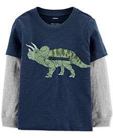 Carter's Toddler Boys Dinosaur-Print Layered-Look Cotton T-Shirt
