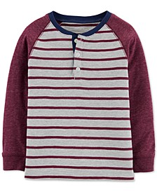 Toddler Boys Striped Henley T-Shirt