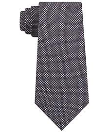 Men's Classic Micro-Tile Print Silk Tie