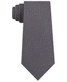 Michael Kors Men's Classic Micro-Tile Print Silk Tie