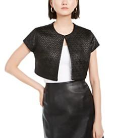 N Natori Quilted Maze Knit Jacket