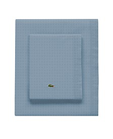 Lacoste Rings Pomegranate Twin Sheet Set