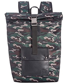 Men's Camo Roll-Top Backback