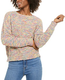 Juniors' Rainbow Popcorn Sweater
