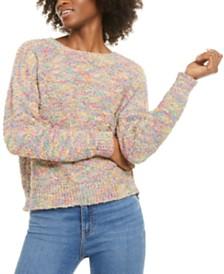 Ultra Flirt Juniors' Rainbow Popcorn Sweater