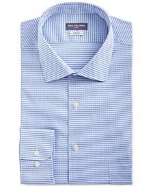 Men's Big & Tall Flex Classic/Regular-Fit Stretch Wrinkle-Free Check Dress Shirt