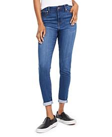 Juniors' Cuffed High-Rise Skinny Jeans