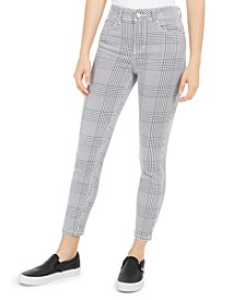 Juniors' Houndstooth Ankle Jeans