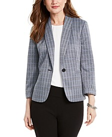 Shawl-Collar One-Button Jacket