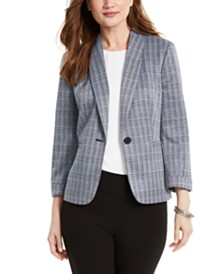 Nine West Shawl-Collar One-Button Jacket